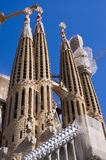 Sagrada Familia church - Barcelona, Spain Stock Images