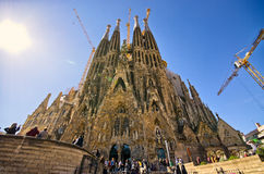 Sagrada Familia church - Barcelona, Spain Royalty Free Stock Images