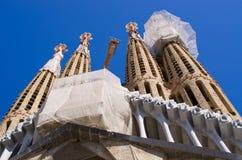 Sagrada Familia church - Barcelona, Spain Stock Images