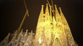 Sagrada Familia church, Gaudi design, UNESCO World Heritage site, architecture. Stock footage stock footage