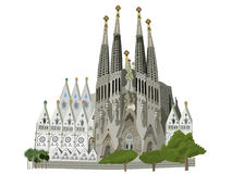 Sagrada Familia church  illustration Stock Photo