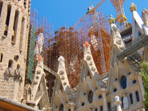 Sagrada Familia-Color elements. A view to Sagrada Familia with some color elements Royalty Free Stock Image