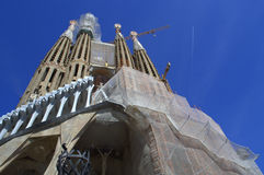 Sagrada Familia construction,Barcelona Royalty Free Stock Images