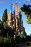 Sagrada Familia Construction Royalty Free Stock Photos