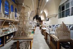 Sagrada Familia construction laboratory Royalty Free Stock Image