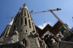 Sagrada Familia - Construction site stock photo