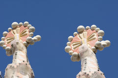 Sagrada Familia Crosses Stock Photo