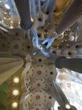 Sagrada Familia dentro imagem de stock royalty free
