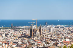 The Sagrada Familia in the district Eixample Royalty Free Stock Photography