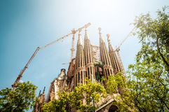 Sagrada Familia em Barcelona, Spain, Europa. Imagens de Stock