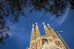 Sagrada Familia en Barcelona España Imagen de archivo libre de regalías
