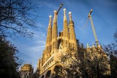 Sagrada Familia en Barcelona España Foto de archivo