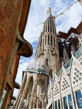 Sagrada Familia entry Stock Photos