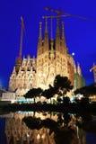 Sagrada Familia in evening Stock Image