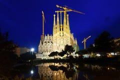 Sagrada Familia in  evening Stock Images