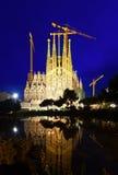 Sagrada Familia in evening in Barcelona Royalty Free Stock Photos