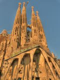 Sagrada familia exterior barcelona spain Royalty Free Stock Photo