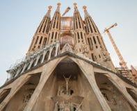 Sagrada Familia facade, the cathedral by Gaudi Stock Image
