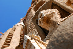 Sagrada Familia Facade Detail  Stock Images