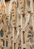 Sagrada Familia facade fragment with sculptures Royalty Free Stock Photos