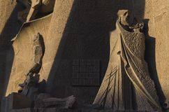 Sagrada Familia facade statues, Barcelona, Spain Royalty Free Stock Images