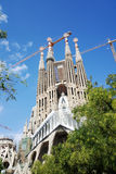 Sagrada Familia, famous architectic building Royalty Free Stock Photo