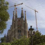 Sagrada Familia - the famous building in Barcelona.  royalty free stock images