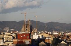 Sagrada Familia of Gaudi in Barcelona Stock Photography