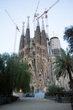 Sagrada familia. Gaudi`s most famous and uncompleted church in Barcelona, Spain royalty free stock photos