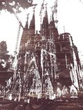 Sagrada familia. Gaudi`s most famous and uncompleted church in Barcelona, Spain Royalty Free Stock Photo