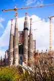 Sagrada Familia by Gaudi Royalty Free Stock Photography