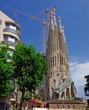 Sagrada Familia gothic church. Stock Image