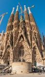 Sagrada Familia, Hiszpania, Barcelona, Wrzesień 2017, katedry des zdjęcia royalty free