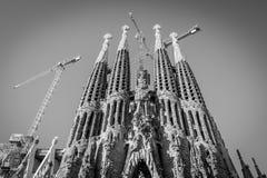 Sagrada Familia, Hiszpania, Barcelona, Wrzesień 2017, katedry des zdjęcie royalty free