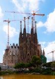 Sagrada Familia i Barcelona, Spanien Royaltyfri Bild