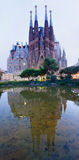 Sagrada Familia i Barcelona, Spanien Arkivbilder