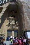 Sagrada Familia ingang, Barcelona royalty-vrije stock afbeelding