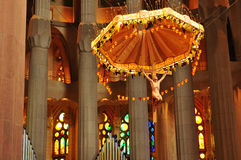 Sagrada Familia interior Stock Photography