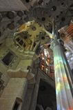 Sagrada Familia interior detail Royalty Free Stock Photography