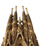 Sagrada Familia isolated on white. Barcelona Spain Stock Photos