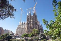 Sagrada Familia kathedraal Barcelona Spanje Stock Foto's