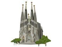 Sagrada Familia kerkillustratie royalty-vrije stock fotografie