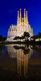 Sagrada Familia kyrka i Barcelona, Spanien Royaltyfri Fotografi