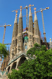 Sagrada Familia. Is a large Roman Catholic church in Barcelona, Spain, designed by Stock Image