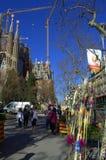 Sagrada Familia marknadsplats, Barcelona royaltyfri foto