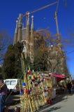 Sagrada Familia markt, Barcelona stock fotografie