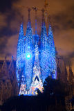 Sagrada Familia multi media show Royalty Free Stock Images