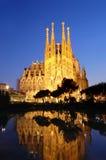 Sagrada Familia. At night, Barcelona Stock Images