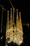 Sagrada Familia at night, Barcelona Stock Photo