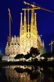 Sagrada Familia in night Stock Image